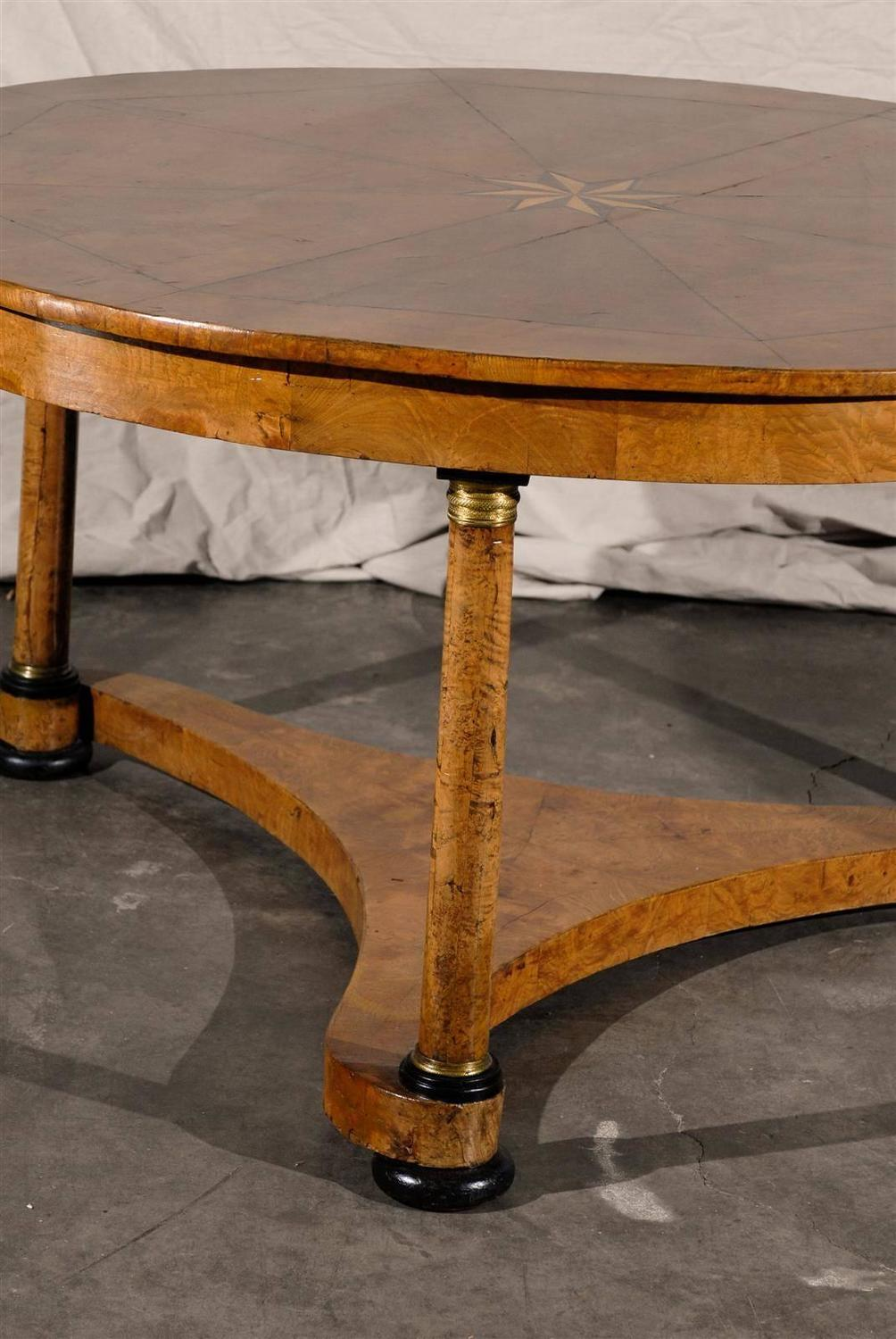 Large 19th century austrian center table for sale at 1stdibs for Table th center