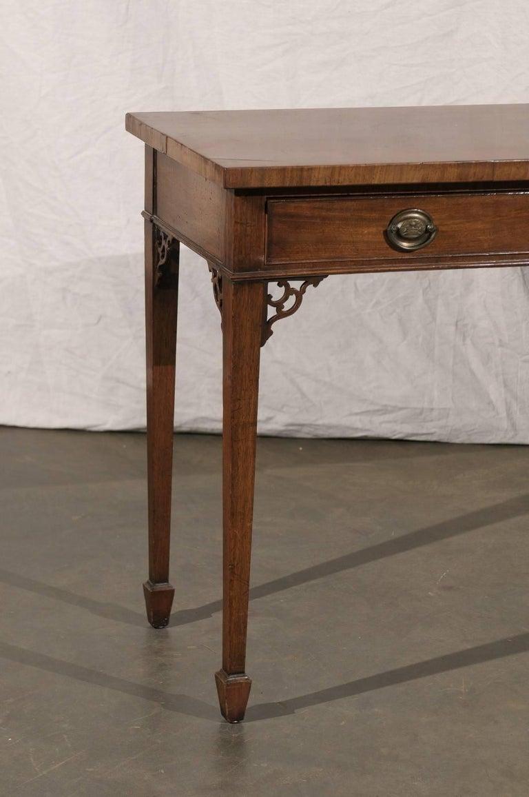 18th-19th century English Regency mahogany serving table.