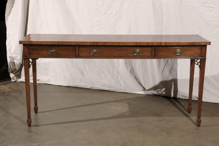 18th-19th Century English Regency Mahogany Serving Table In Good Condition For Sale In Atlanta, GA