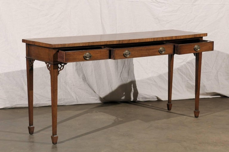 18th Century and Earlier 18th-19th Century English Regency Mahogany Serving Table For Sale