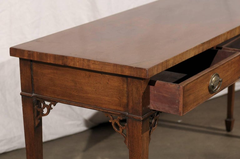 18th-19th Century English Regency Mahogany Serving Table For Sale 1