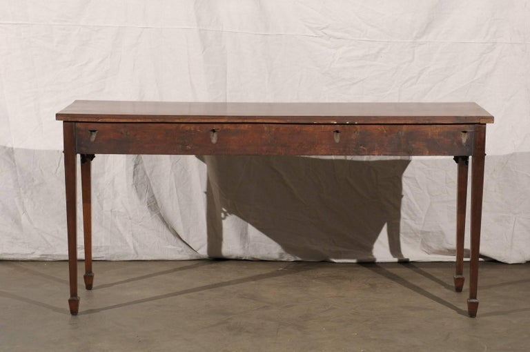 18th-19th Century English Regency Mahogany Serving Table For Sale 4