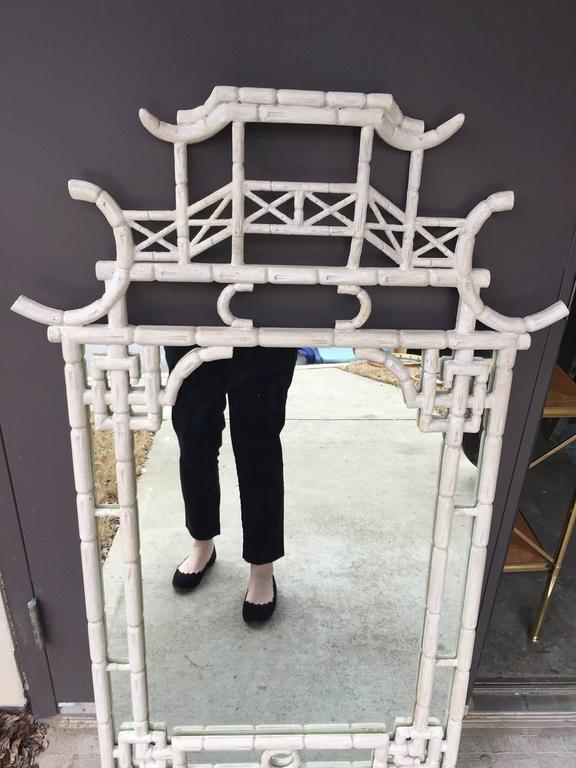 Midcentury Bamboo Mirror 2