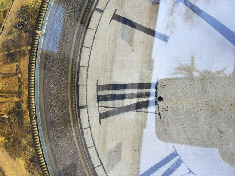 Large 19th Century French Tole Clock For Sale 1