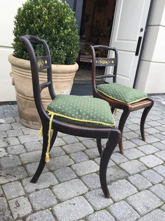 English Regency chairs, of the period, circa 1820