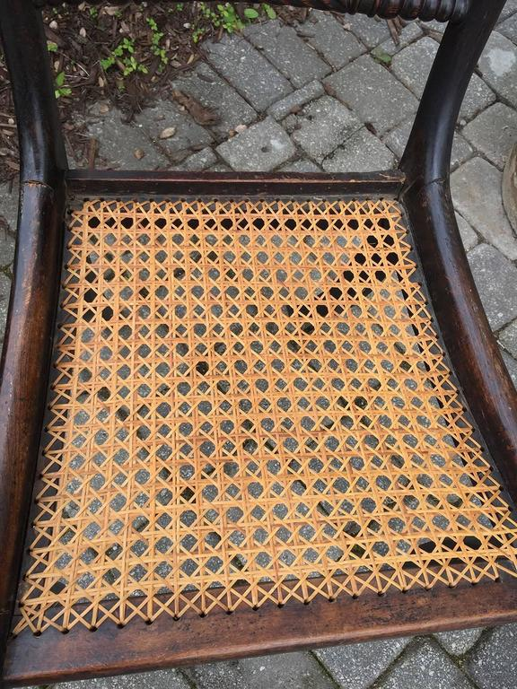 Cane English Regency Chairs, of the Period, circa 1820 For Sale