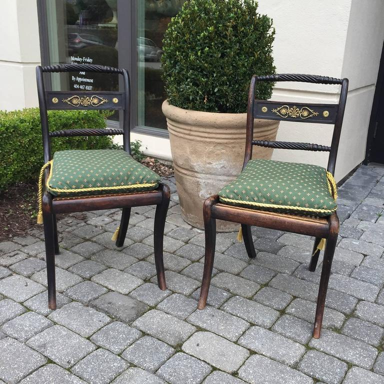 English Regency Chairs, of the Period, circa 1820 For Sale 1