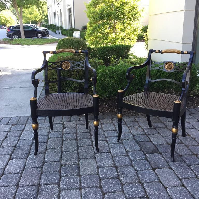 Pair of 19th Century Regency Armchairs For Sale 4