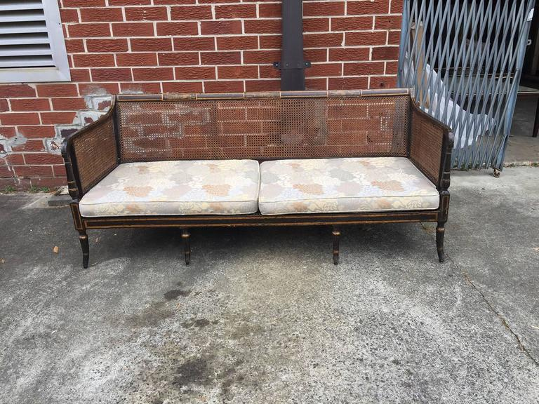 Regency Period Painted Sofa Or Bench Original Paint, Circa 1820 (Comes With  Seat Cushions