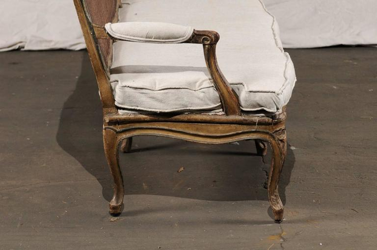 18th Century and Earlier 18th-19th Century Regence Settee with Cane For Sale