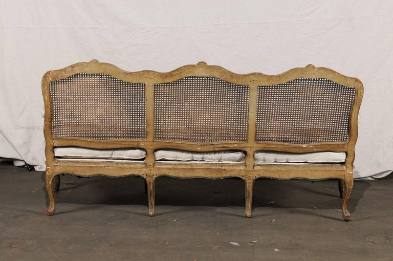 18th-19th Century Regence Settee with Cane For Sale 1