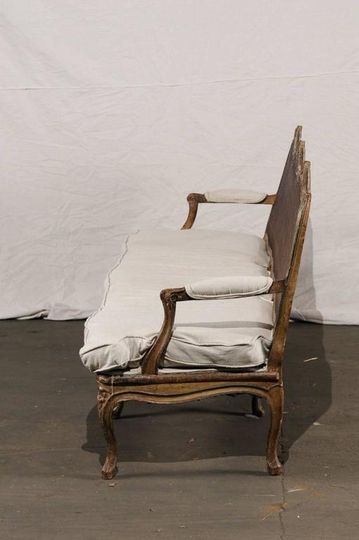 18th-19th Century Regence Settee with Cane For Sale 2