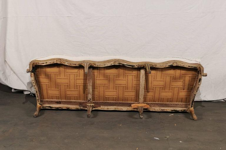 18th-19th Century Regence Settee with Cane For Sale 3