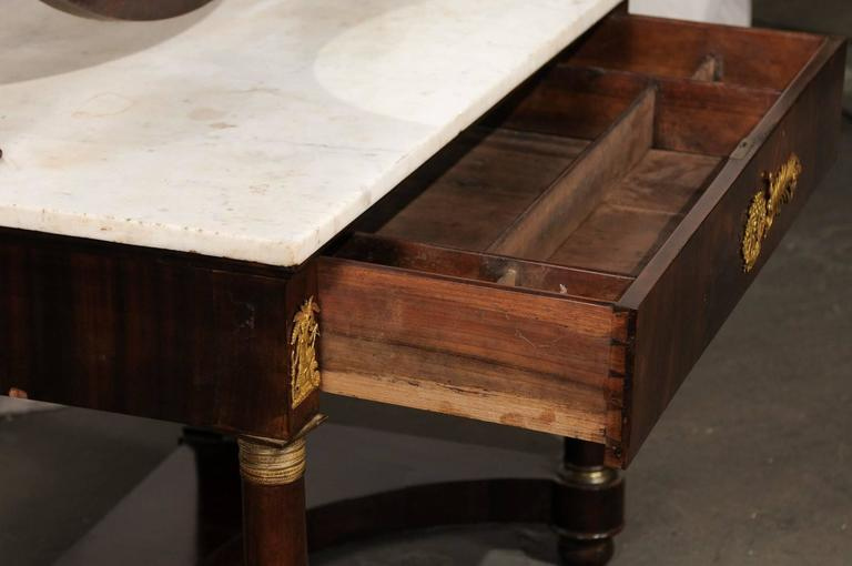 19th Century Empire Flame Mahogany Dressing Table For Sale 4