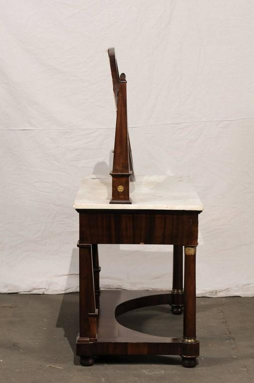 19th Century Empire Flame Mahogany Dressing Table For Sale 5