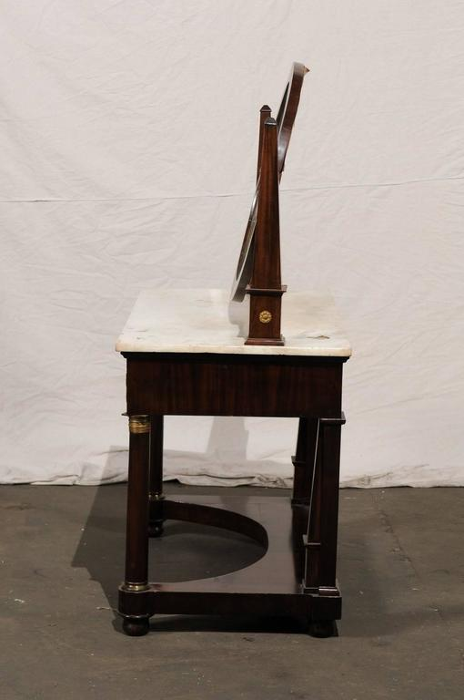 19th Century Empire Flame Mahogany Dressing Table For Sale 6