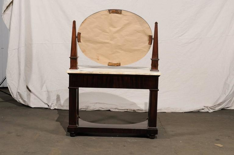 19th Century Empire Flame Mahogany Dressing Table For Sale 7