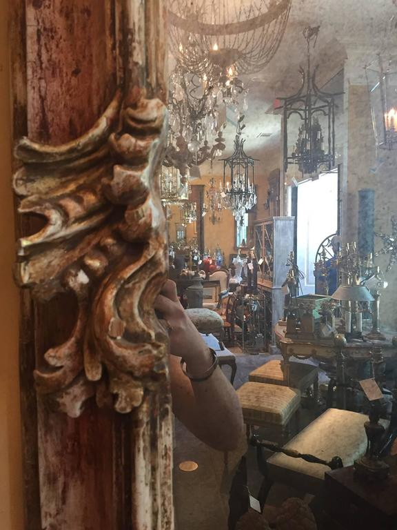 19th Century Early Italian Baroque Framed Mirror In Good Condition For Sale In Atlanta, GA