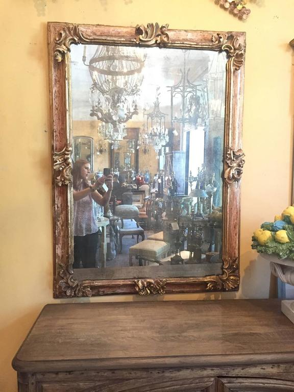 19th Century Early Italian Baroque Framed Mirror For Sale 4