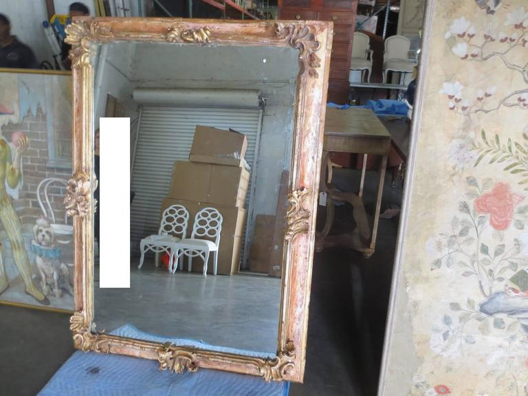 19th Century Early Italian Baroque Framed Mirror For Sale 5