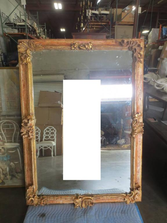 19th Century Early Italian Baroque Framed Mirror For Sale 6