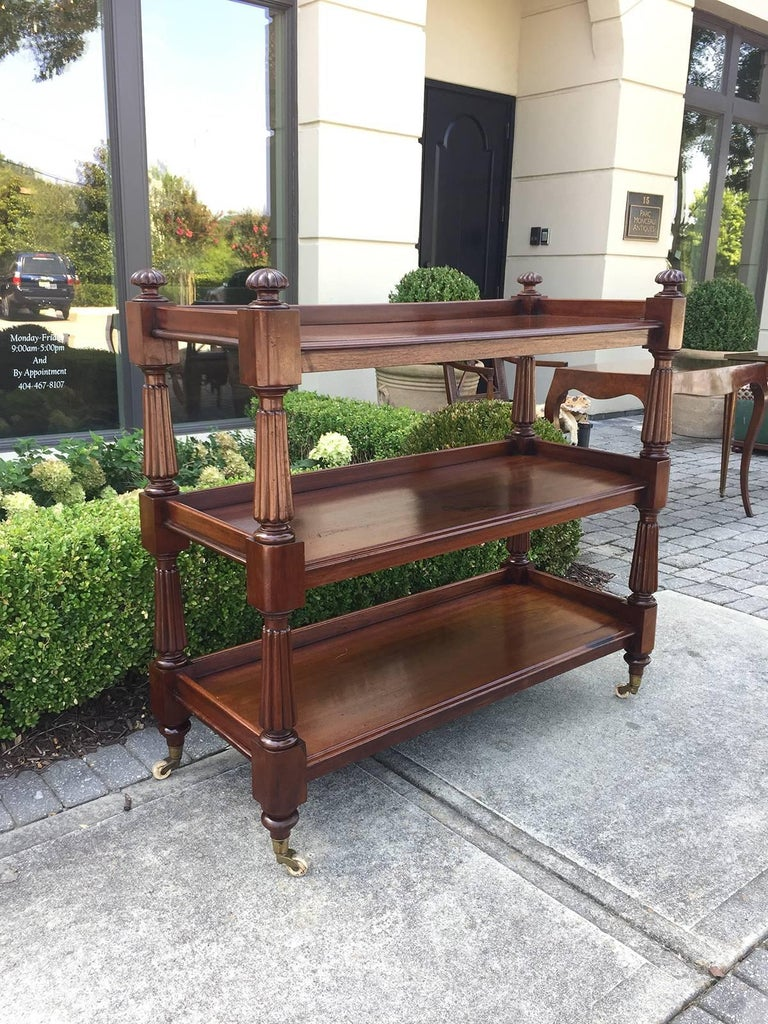 English Mahogany Regency Etagere, circa 1820-1840 2