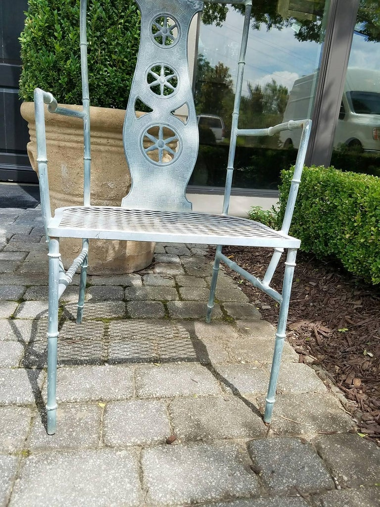 """Set of Four Iron Armchairs in The Style of Salterini """"Montego"""" 3"""
