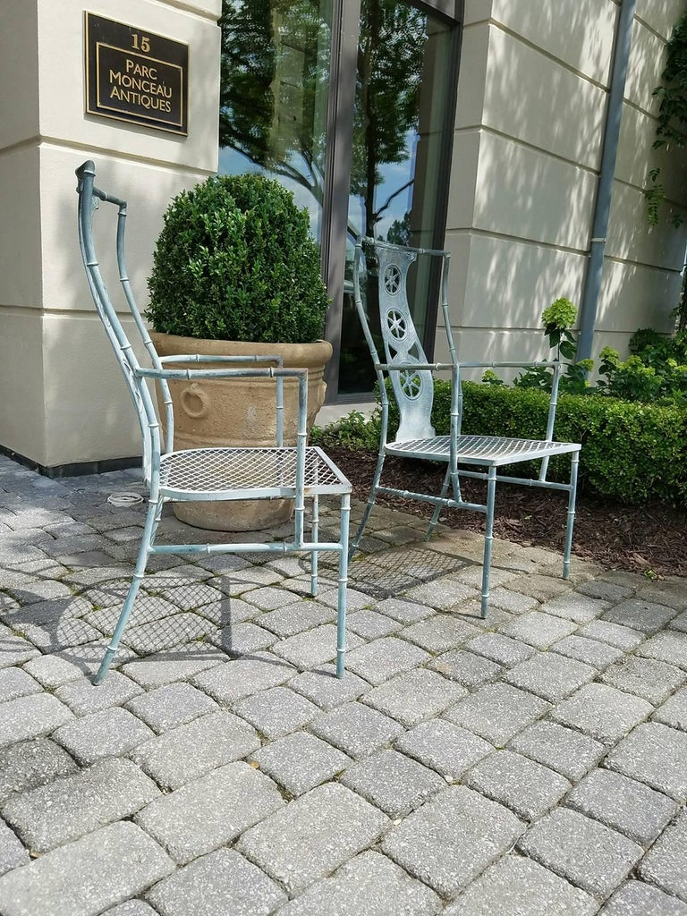 "Set of Four Iron Armchairs in The Style of Salterini ""Montego"" 6"