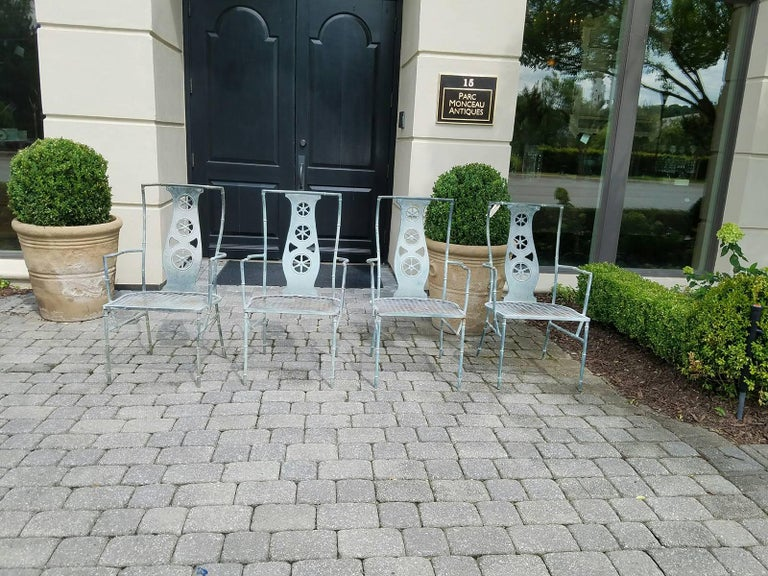 "Set of Four Iron Armchairs in The Style of Salterini ""Montego"" 8"