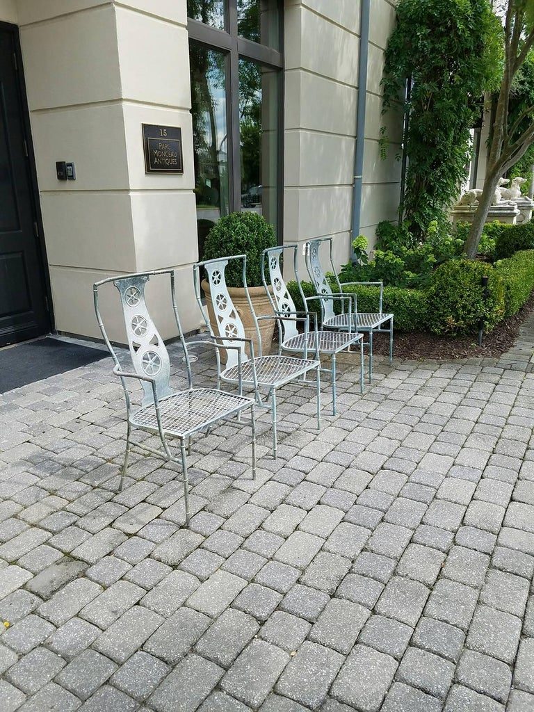 "Set of Four Iron Armchairs in The Style of Salterini ""Montego"" 9"