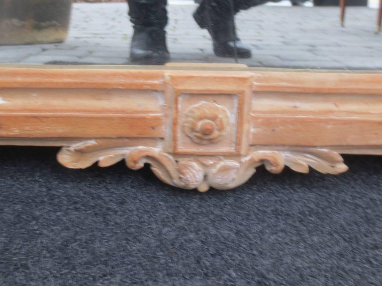 18th Century Louis XV Style Stripped Mirror For Sale 1
