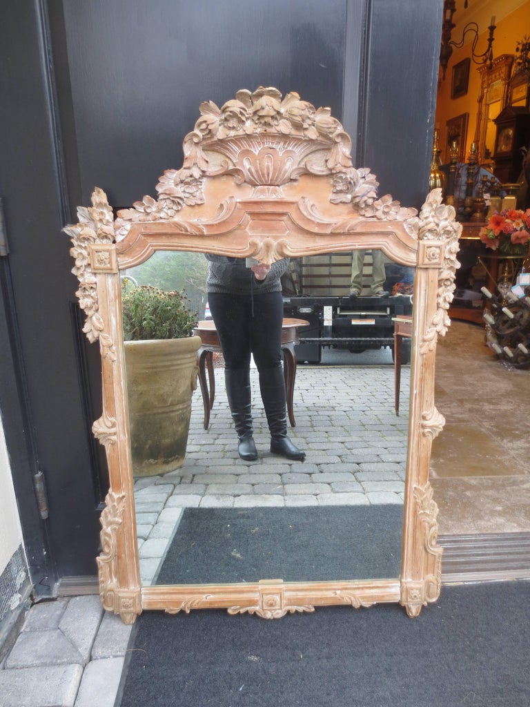 18th Century Louis XV Style Stripped Mirror For Sale 4