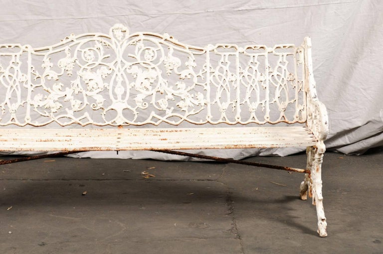 19th Century Iron English Garden Bench 4