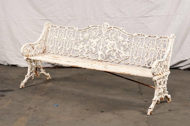 19th Century Iron English Garden Bench For Sale 2