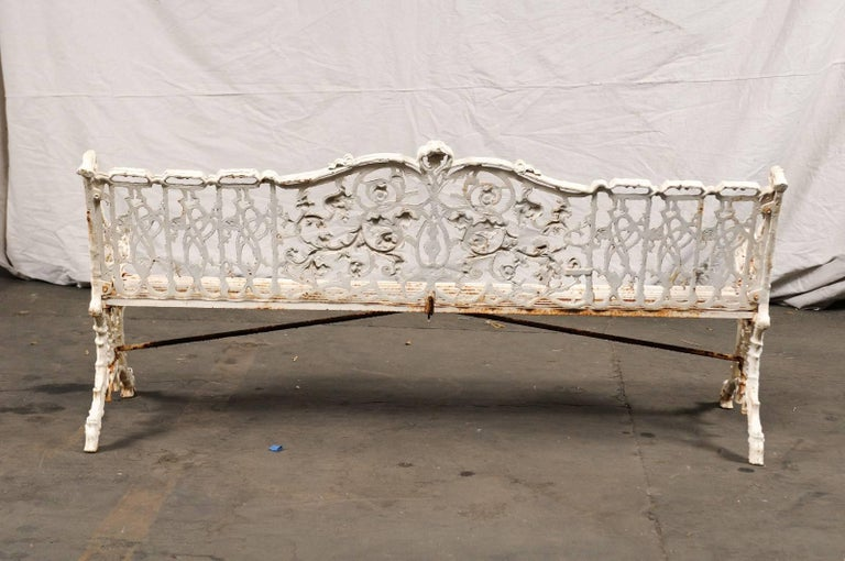 19th Century Iron English Garden Bench For Sale 4