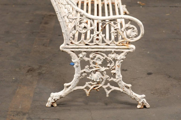 19th Century Iron English Garden Bench 9