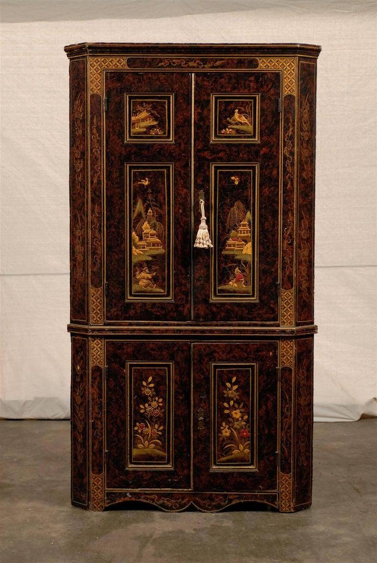 19th Century Chinoiserie Corner Cabinet 2