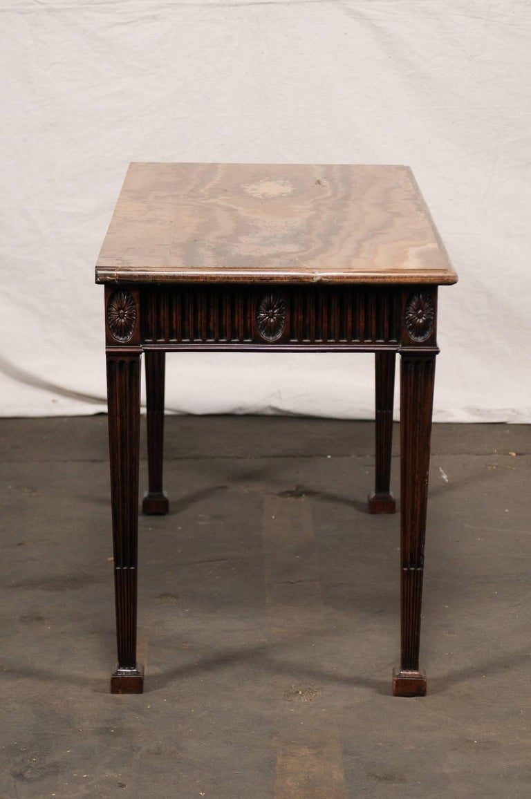 19th Century George III Style Carved Mahogany Specimen Marble-Top Console For Sale 2