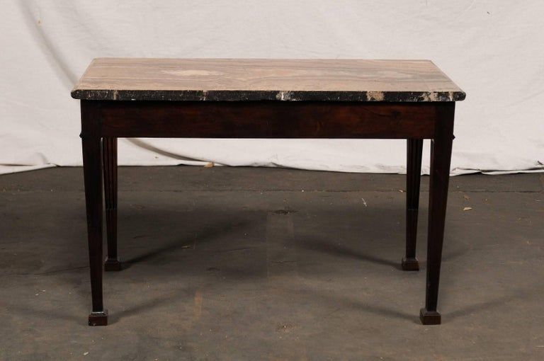 19th Century George III Style Carved Mahogany Specimen Marble-Top Console For Sale 4