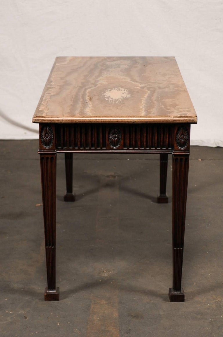 19th Century George III Style Carved Mahogany Specimen Marble-Top Console For Sale 6