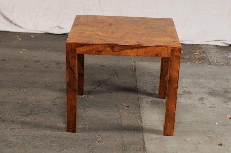 Mid-20th Century Italian Burled Olive Wood Side Table 1