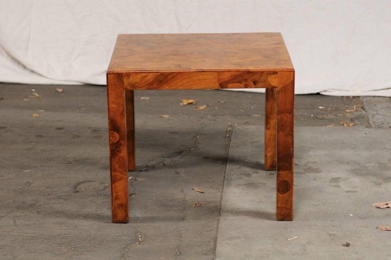 Mid-20th Century Italian Burled Olive Wood Side Table 2