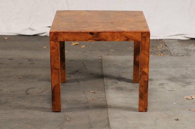 Mid-20th Century Italian Burled Olive Wood Side Table 3