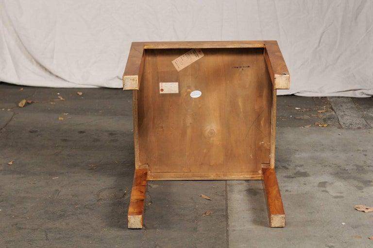 Mid-20th Century Italian Burled Olive Wood Side Table 4