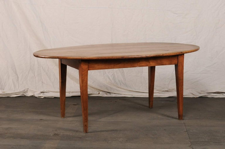 Th Century French Oval Farm Table For Sale At Stdibs - Oval farm table