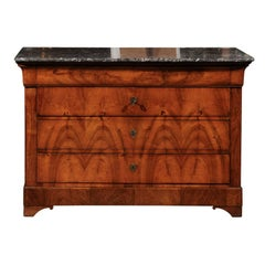 19th Century Louis Philippe Burled Walnut Commode