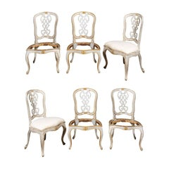 Set of Six 19th Century Painted Dining Chairs