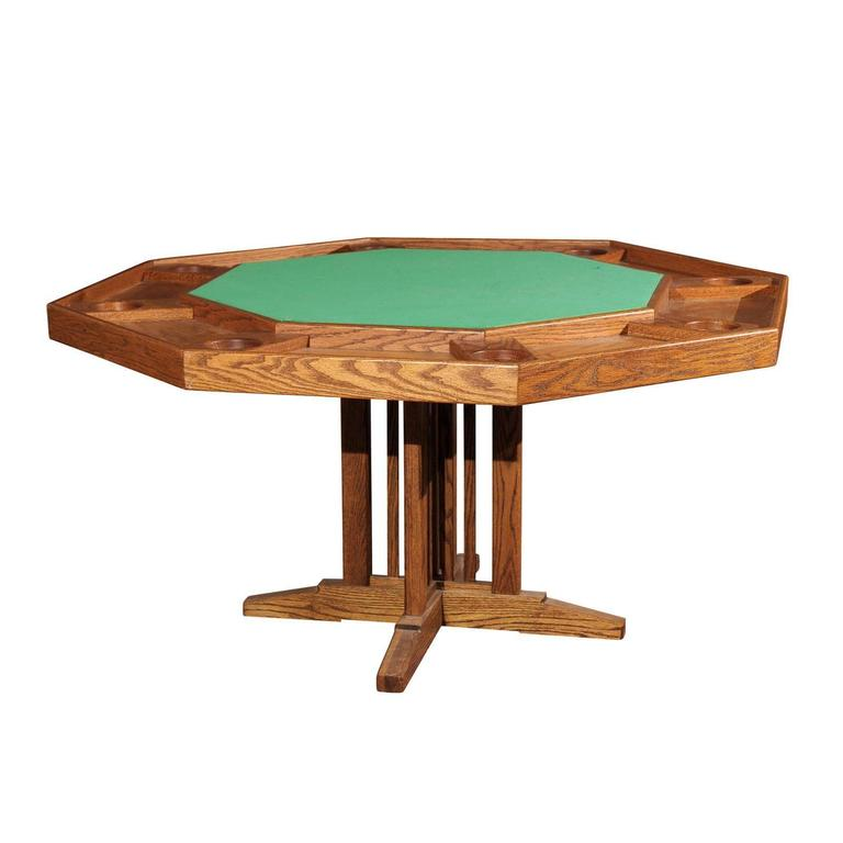 Vintage Poker Table At 1stdibs