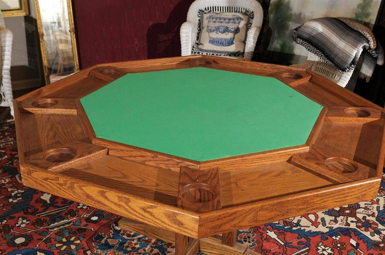 Vintage Poker Table At 1stdibs