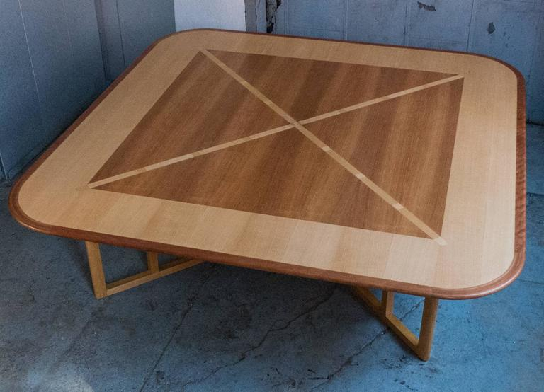 American Massive Gwathmey Siegel Commission Cocktail Table For Sale